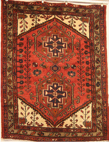 Persian Hamedan Hand-knotted Rug Wool on Cotton (ID 1252)
