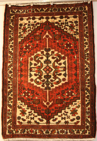 Persian Hamedan Hand-knotted Rug Wool on Cotton (ID 1438h)