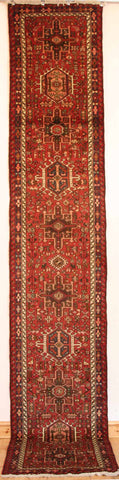 Persian Heriz Hand-knotted Runner Wool on Cotton (ID 1193)