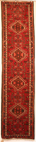 Persian Heriz Hand-knotted Runner Wool on Cotton (ID 1063)