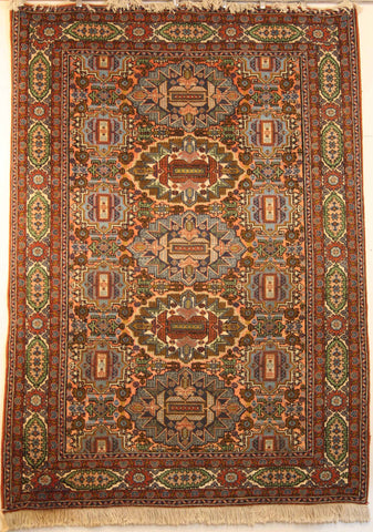 Persian Heriz Hand-knotted Rug Wool on Cotton (ID 1024)