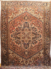 Persian Heriz Hand-knotted Rug Wool on Cotton (ID 320)