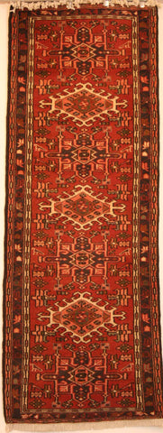 Persian Heriz Hand-knotted Runner Wool on Cotton (ID 89)