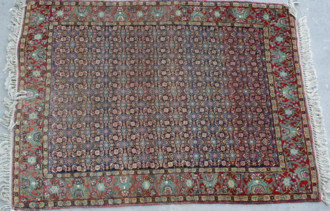 Indian Amritsar Hand-knotted Rug Wool on Cotton (ID 1095)