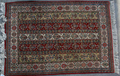 Indian  Hand-knotted Rug Wool on Cotton (ID 1094)