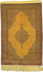Indian Kashmir Hand-knotted Rug Silk on Silk (ID 1089)