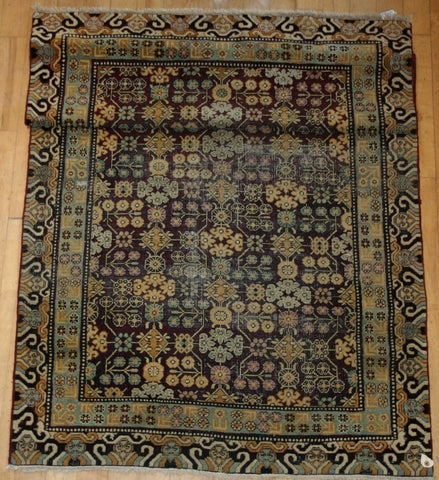 Indian Khotan Hand-knotted Rug Wool on Wool (ID 1119)