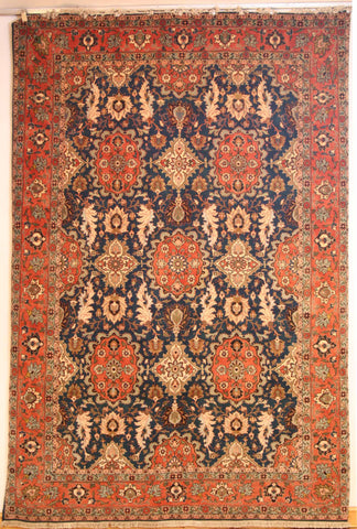 Persian Isfahan Hand-knotted Rug Wool on Cotton (ID 306)