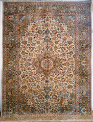 Persian Isfahan Hand-knotted Rug Wool on Cotton (ID 1019)