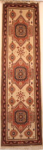 Persian Isfahan Hand-knotted Runner Wool on Cotton (ID 25)