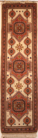 Persian Isfahan Hand-knotted Runner Wool on Cotton (ID 32)