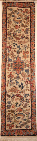 Persian Isfahan Hand-knotted Runner Wool on Cotton (ID 58)