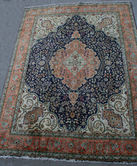 Persian Isfahan Hand-knotted Rug Wool on Cotton (ID 263)