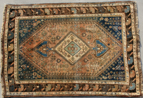 Persian Kashan Hand-knotted Rug Wool on Cotton (ID 1110)