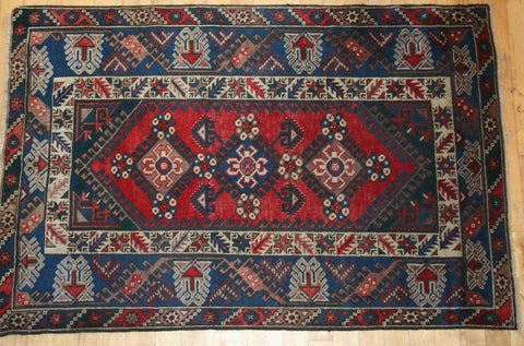 Kazak Astana Hand-knotted Rug Wool on Wool (ID 1172)