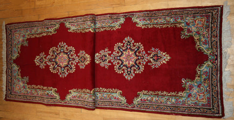Persian Kerman Hand-knotted Runner Wool on Cotton (ID 1126)