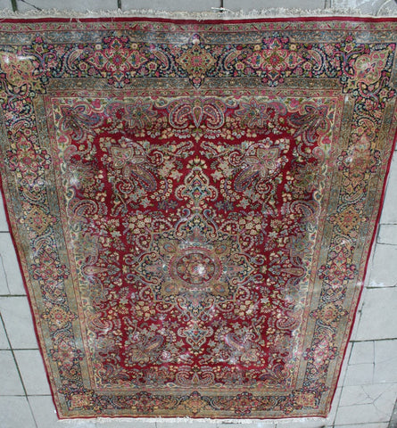 Persian Kerman Hand-knotted Rug Wool on Cotton (ID 1134)