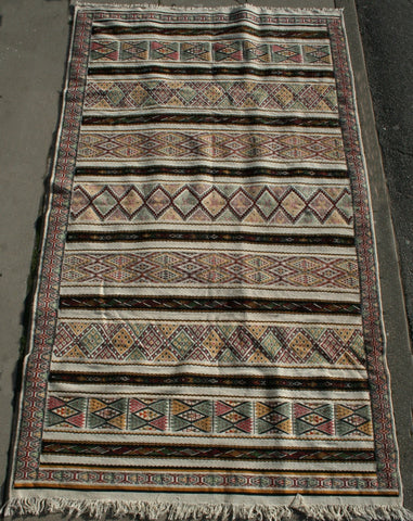Persian Kermanshah Hand-knotted Kilim Wool on Cotton (ID 1159)