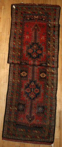 Persian Kurdistan Hand-knotted Runner Wool on Wool (ID 1107)