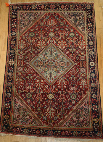 Persian Mahal Hand-knotted Rug Wool on Cotton (ID 1116)