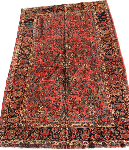 Persian Mahal Hand-knotted Rug Wool on Wool (ID 1130)