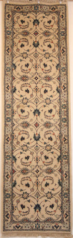 Persian Naein Hand-knotted Runner Wool on Cotton (ID 59)