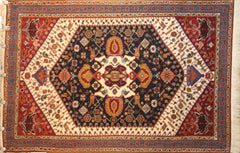 Persian NazemKashkuli Hand-knotted Rug Wool on Cotton (ID 219)