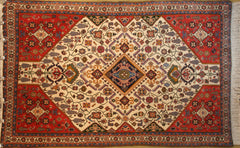 Persian Nazemkashkuli Hand-knotted Rug Wool on Cotton (ID 220)