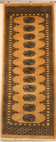 Pakistan Lahore Hand-knotted Runner Wool on Cotton (ID 1039)