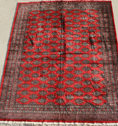 Pakistan Lahore Hand-knotted Rug Wool on Cotton (ID 1208)
