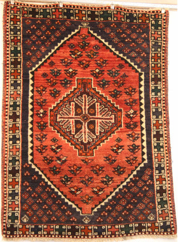 Persian Qashqai Hand-knotted Rug Wool on Wool (ID 1251)
