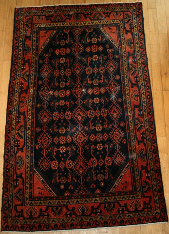 Persian Qashqai Hand-knotted Rug Wool on Cotton (ID 1174)