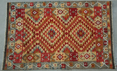 Persian Qashqai Hand-knotted Kilim Wool on Wool (ID 1196)
