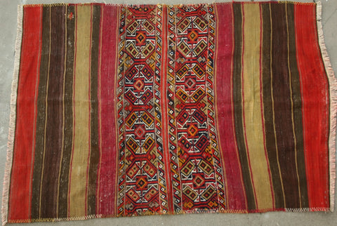 Persian Qashqai Hand-knotted Kilim Wool on Wool (ID 1217)