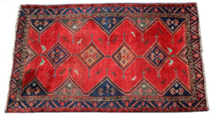 Persian Qashqai Hand-knotted Rug Wool on Cotton (ID 1153)