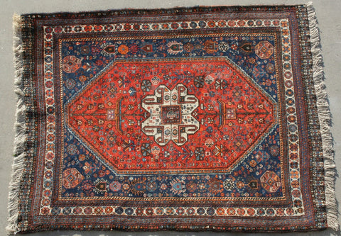 Persian Qashqai Hand-knotted Rug Wool on Wool (ID 1113)