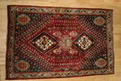Persian Qashqai Hand-knotted Rug Wool on Cotton (ID 1167)