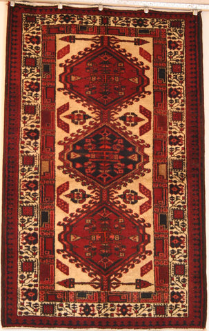 Persian Qashqai Hand-knotted Rug Wool on Cotton (ID 1244)