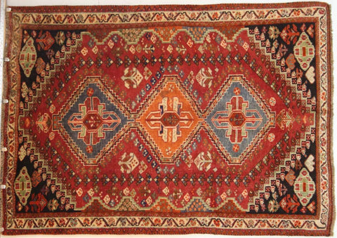 Persian Qashqai Hand-knotted Rug Wool on Wool (ID 1243)