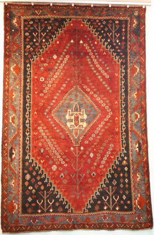 Persian Qashqai Hand-knotted Rug Wool on Wool (ID 1232)