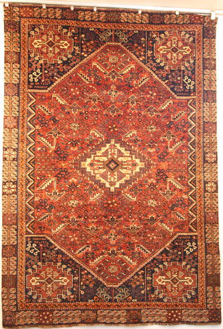 Persian Qashqai Hand-knotted Rug Wool on Wool (ID 1229)
