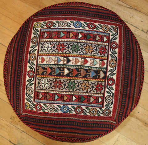 Persian Qashqai Hand-knotted Stool Wool on Wool (ID 1446)