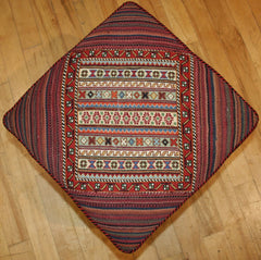Persian Qashqai Hand-knotted Stool Wool on Wool (ID 1200)