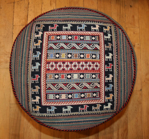 Persian Qashqai Hand-knotted Stool Wool on Wool (ID 1431)