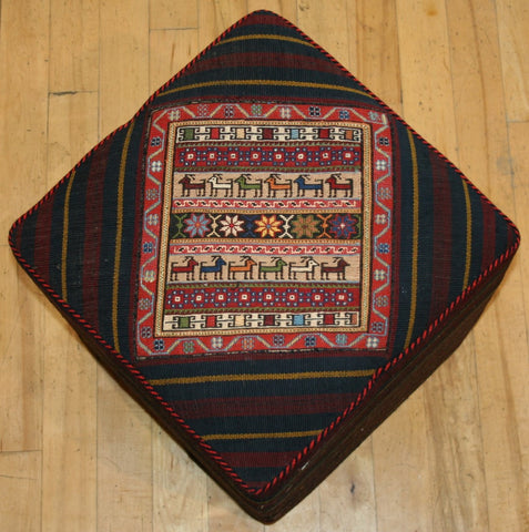 Persian Qashqai Hand-knotted Stool Wool on Wool (ID 1440)