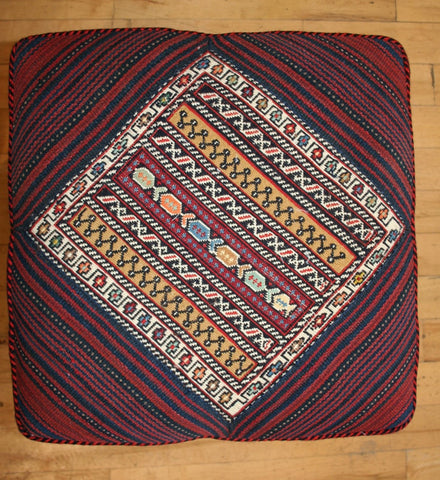 Persian Qashqai Hand-knotted Stool Wool on Wool (ID 1432)