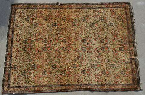 Persian Qom Hand-knotted Rug Silk on Silk (ID 1316)