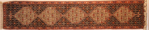 Persian Sanneh Hand-knotted Runner Wool on Cotton (ID 41)