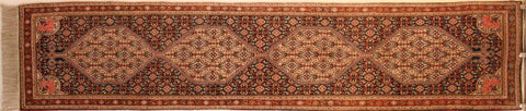 Persian Sanneh Hand-knotted Runner Wool on Cotton (ID 35)
