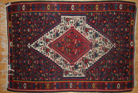 Persian Sanneh Hand-knotted Kilim Wool on Cotton (ID 1264)